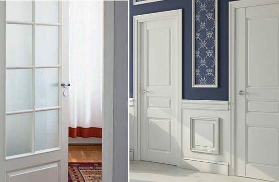Интерьеры с белыми дверями