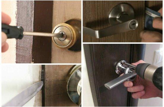 Как вынуть личинку из замка без ключа