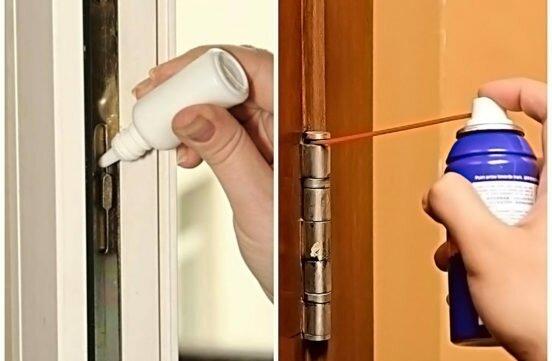 Чем смазать дверные петли, чтобы двери не скрипели