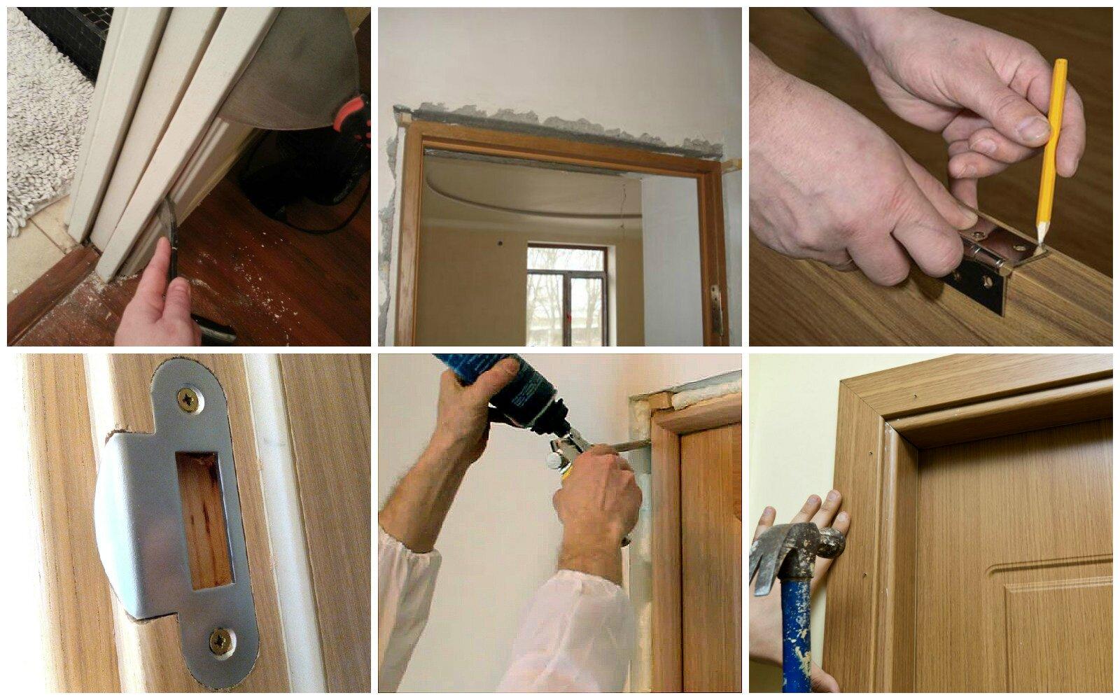 Как поставить межкомнатную дверь инструкция