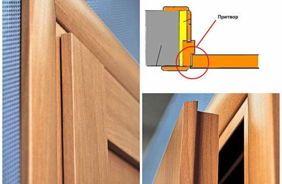 Дверь с притвором: особенности дверей с четвертью