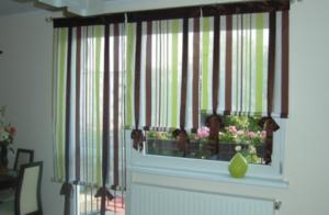 Шторы в кухню на окна и балконную дверь